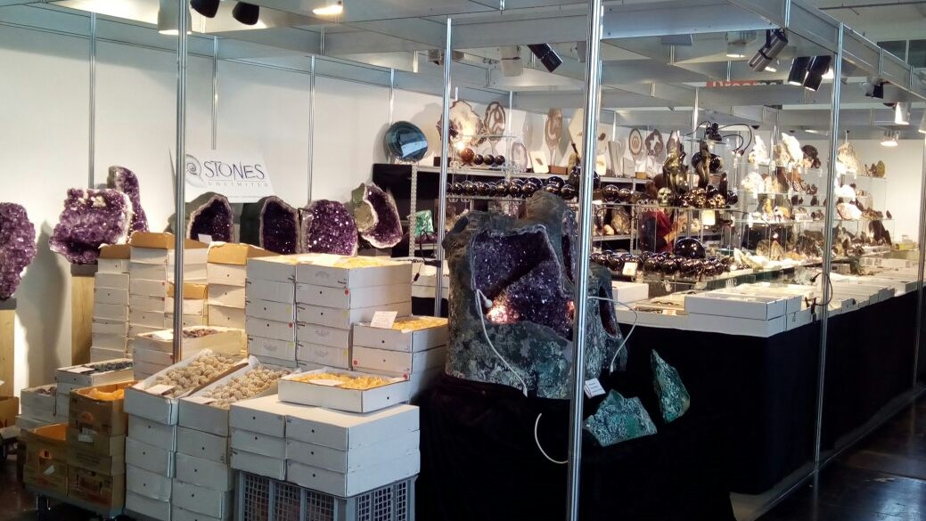 Munich Show 2017 - My booth with wholesale flats and retail collectors specimen